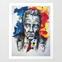 Christopher Walken Portrait painting illustration by #carographic Art Print