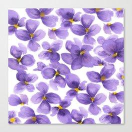 Violets are blue Canvas Print