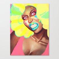 nicki Canvas Prints featuring nicki minajprint by Full Ten