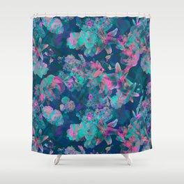 Geometric Floral Shower Curtain