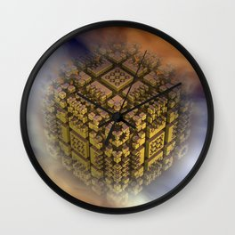 the floating cube Wall Clock