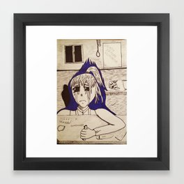 Suicidal Girl Framed Art Print