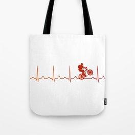 Mountainbike HeartbeatMountainbike Heartbeat Tote Bag