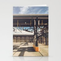pocket fuel Stationery Cards featuring Fuel Station by Dave Rasura