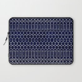 Indigo Dark Blue Farmhouse Moroccan Style. Laptop Sleeve