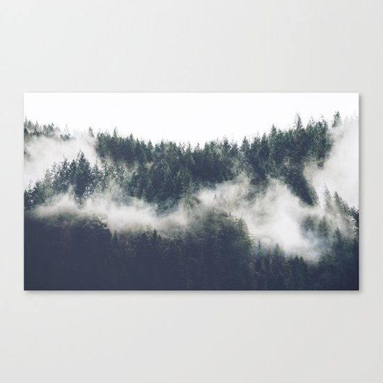 Abstract Forest Fog Canvas Print