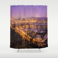 prague Shower Curtains featuring Prague 1 by Veronika