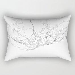 Minimal City Maps - Map Of Ponta Delgada, Azores. Rectangular Pillow