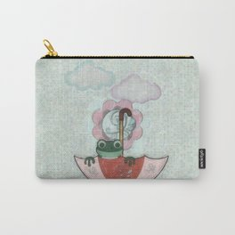 Rainy Day Frog Children's Art Carry-All Pouch