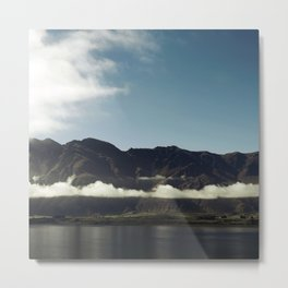 Cloudy dark mountains Metal Print