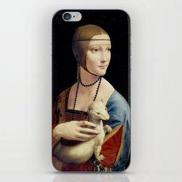 The Lady with an Ermine - Leonardo da Vinci iPhone Skin