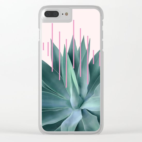 Agave geometrics II - pink Clear iPhone Case