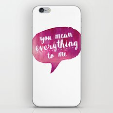 you mean everything to me (Valentine Love Note) iPhone & iPod Skin