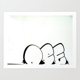 """DEF"" Throw-up *secret design* Art Print"