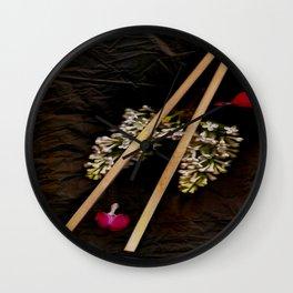 Chop Sticks Pattern Wall Clock