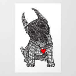 Fearless Protector - Doberman Art Print