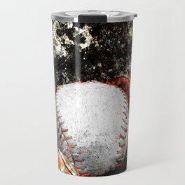 Baseball art print work 18 Travel Mug