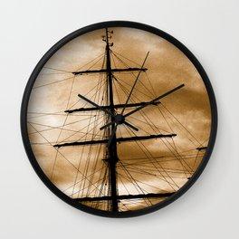 Tall ship mast Wall Clock