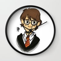 harry Wall Clocks featuring HARRY  by Art of Bianca