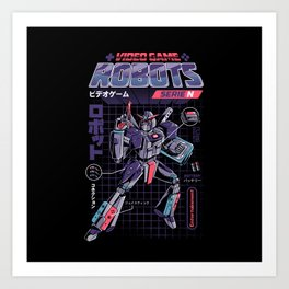 Video Game Robot - Model N Art Print