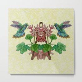 Twin Hummingbirds Metal Print