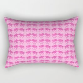 Pink Dinosaur Triceratops Pattern Rectangular Pillow