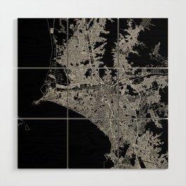 Lima Black Map Wood Wall Art