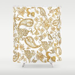 India henna pattern Shower Curtain