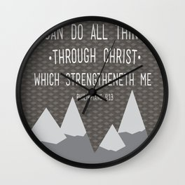 I CAN // Philippians 4:13 Wall Clock