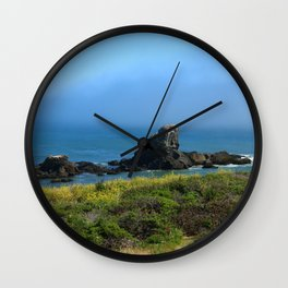 Rocks In The Sea At Pigeon Point Wall Clock