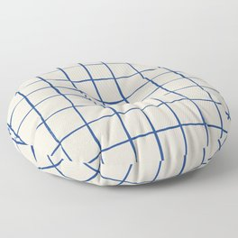 BASIC | Criss Cross Blue Floor Pillow