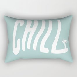 Summer Palm Chill Rectangular Pillow