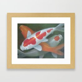 Koi in the Pond, by JD Gibson Framed Art Print