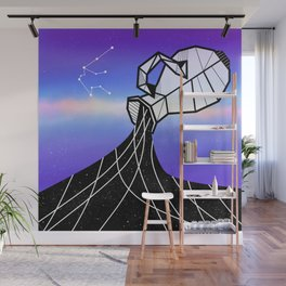 Aquarius Zodiac Sign Wall Mural
