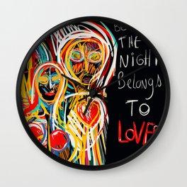 The night belongs to lovers Street Art Graffiti Wall Clock