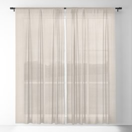 Pantone Hazelnut Dry Brush Strokes Texture Pattern Sheer Curtain