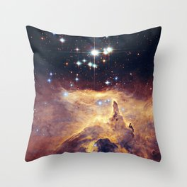 Core of diffuse nebula NGC 6357. Lobster Nebula. Throw Pillow