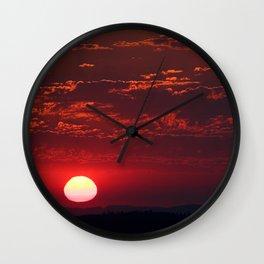 Pink Sun Wall Clock