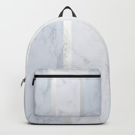 Marble Silver Backpack