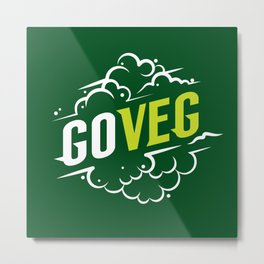 Go Veg sticker Metal Print