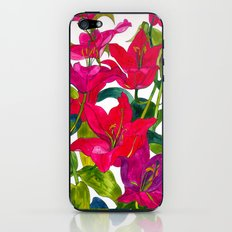 Pink Lilies iPhone & iPod Skin