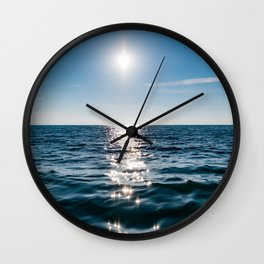 Marble Wave Sunshine Wall Clock