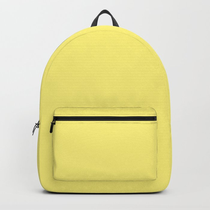 Solid Pale Corn Yellow Color Rucksack