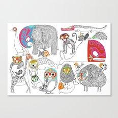 Animales Luchadores Canvas Print
