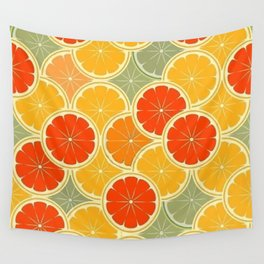 Summer Citrus Slices Wall Tapestry