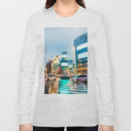 Shibuya Crossing in the Rain Long Sleeve T-shirt
