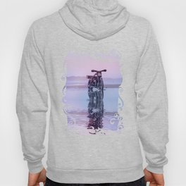 Where the Journey  begins Motorcycle at the Water Sunset Hoody