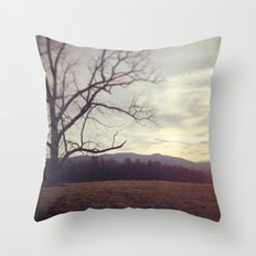 Golden Mountains Throw Pillow