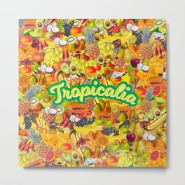 Tropicalia Fruits Metal Print
