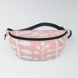 Ibiza flowers 280 pink and white Fanny Pack